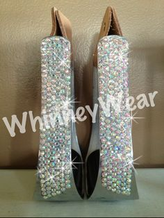 Rhinestone western stirrups, starting at $75 plus shipping. www.whinneywear.com Other colors of stones available.
