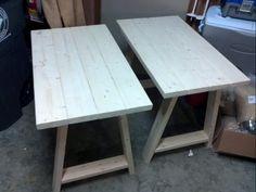 Simple Small Trestle Desk