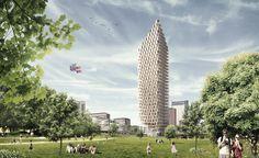 Wooden Skyscraper / Berg | C.F. Møller Architects with DinnellJohansson