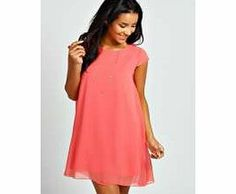 boohoo Eva Chiffon Cap Sleeve Swing Dress - coral This solid colour swing dress is a chic option for day or play. Dress it down the chunky ankle boots , a leather-look jacket and boho bowler hat . http://www.comparestoreprices.co.uk/dresses/boohoo-eva-chiffon-cap-sleeve-swing-dress--coral.asp
