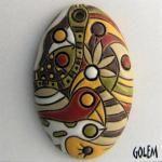 """""""Cocoa Jungle"""" - Large oval pendant"""