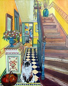 My Home by Agnes Bogaert - GINA Gallery of International Naive Art