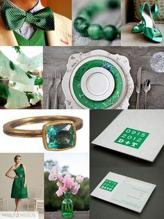 Emerald Green - wedding trends 2013 Emerald Wedding Theme, Emerald Green Weddings, Wedding Colors, Wedding Trends, Wedding Blog, Dream Wedding, Wedding Day, Celtic Wedding, Irish Wedding