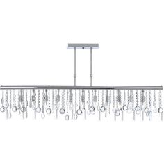 Linear strand crystal chandelier chandeliers crystals and lights contemporary modern linear crystal 11 light chandelier overstock shopping great deals on gallery aloadofball Choice Image