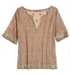 Sequin embellished tee-I love the embellishment on this shirt and the neutral color will allow for much wear from spring thru fall.