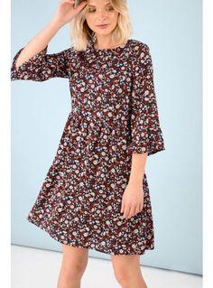 Ditsy Floral Print Smock Dress