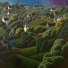 Rolling Hills in the Mournes by George Callaghan