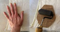 DIY lino block printing on fabric - how to and hints