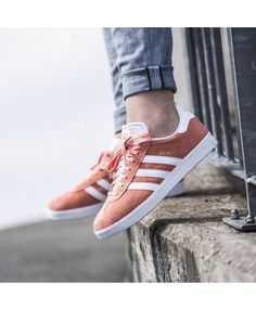 hot sale online c7533 47087 Adidas Gazelle Og Shoes In Pink White Adidas Gazelle Mens, Basket Sneakers,  Grey Trainers