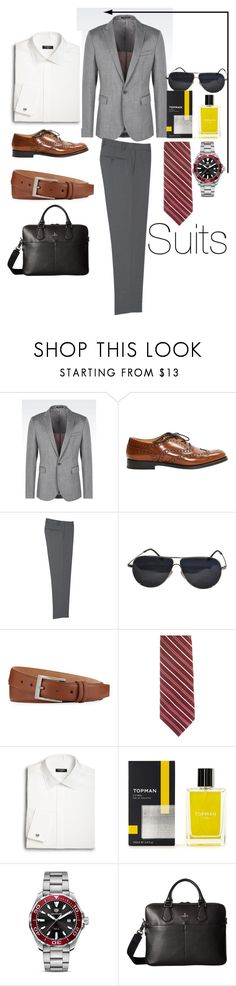 """""""Gray day"""" by niki-row ❤ liked on Polyvore featuring Emporio Armani, Church's, MANGO MAN, BMW, W.Kleinberg, Valentino, Saks Fifth Avenue, Topman, TAG Heuer and Vivienne Westwood"""