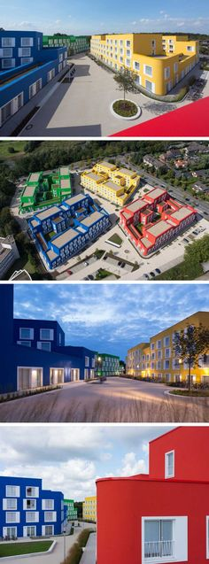 Kresings GmbH designed Boeselburg, a group of colourful council and student housing buildings in Münster, Germany.