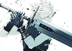 Final Fantasy Xiv, Final Fantasy Cloud, Final Fantasy Characters, Final Fantasy Artwork, Fantasy Series, Cloud And Tifa, Cloud Strife, Arte Cyberpunk, Fan Art
