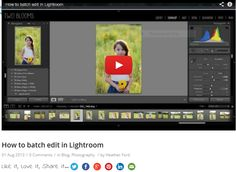 {How to batch edit in Lightroom} Are you looking for a more functional way to edit your sessions in Lightroom? Batch editing, using the sync feature, can help you to speed up your workflow tremendously! #lightroom #photography