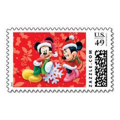 Disney: Holiday Mickey and Minnie Postage #holiday #postage #christmas
