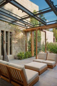 Pergola Designs, Patio Design, Garden Design, House Design, Indoor Outdoor, Outdoor Rooms, Outdoor Living, Outdoor Ideas, Indoor Plants