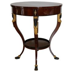 Austrian Empire/Biedermeier Side Table | From a unique collection of antique and modern side tables at http://www.1stdibs.com/furniture/tables/side-tables/