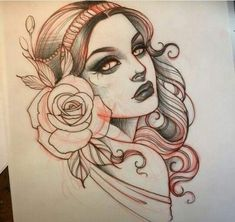 Neo Traditional the house beauty spa childwall - House Beautiful Neotraditionelles Tattoo, Head Tattoos, Tatoo Art, Body Art Tattoos, Tattoo Flash, Dragon Tattoos, Sleeve Tattoos, Tattoo Sketches, Tattoo Drawings