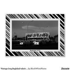Vintage Iraq Baghdad tahrir square  poster