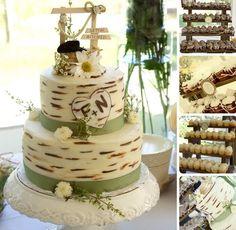 Hochzeitstorte in drei Etagen mit Zuckerglasur und originelle Dekoration