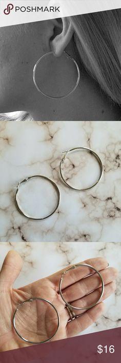 5 for $25 Silver Color Hoop Earrings Silver Color Hoop Earrings Jewelry Earrings