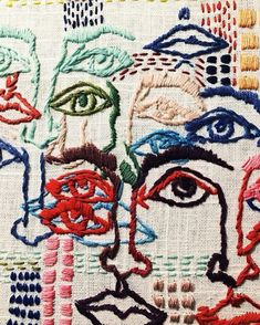 Textiles The Eames Office celebrates art of the century in 10 Mind-Blowing Textile Artists You Embroidery Art, Embroidery Stitches, Embroidery Patterns, Art Patterns, Tessa Perlow, Textile Artists, Textile Fiber Art, Textile Texture, Fabric Art