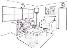 drawing furniture 2 point perspective - - Yahoo Image Search Results
