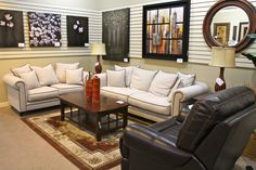 Aico/Michael Amini Avery Linen Sofa & Loveseat - Colleen's Classic Consignment, Las Vegas, NV - www.cccfurnishings.com