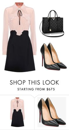 """Untitled #5"" by drama-4 ❤ liked on Polyvore featuring Miu Miu and Christian Louboutin"