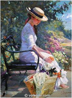 "Vladimir Volegov ""At Road to Monet garden"", 76x102 cm, oil on canvas, 2005   to order print of this painting: http://www.volegov.com/poster/340/  #Monet #garden #painting #art"