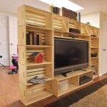 TV-Schrank mit Obstkisten gebaut 1