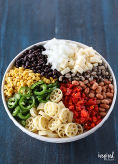 This Southwest Pasta Salad may become your new go-to summer side dish. #pastasalad #pasta #salad #southwest #beans #corn #recipe