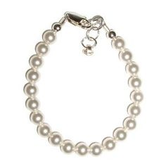 Serenity Sterling Silver Childrens Girls Bracelet Jewelry Her first Pearls! Simply beautiful sterling silver bracelet featuring a strand of georgeous Czech pearls. Size Large 6-13 Years Hail Mary Gifts. $36.00