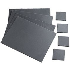 8 Piece Slate Placemat & Coaster Set Offering a neutral style to complement any type of traditional or contemporary décor, this eye-catching slate placemat set will prevent spills and hot plates from damaging the surface of your table. Womens Fashion Online, Latest Fashion For Women, Order Kitchen, Food Storage Boxes, Kitchen Views, Stainless Steel Types, Budget, Placemat Sets, Napkins Set