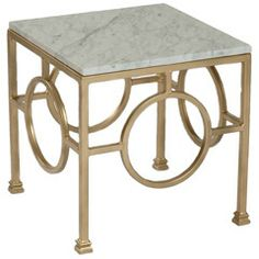Ro Sham Beaux Circle Marble Side Table RSBCRCL; #laylagrayce and #bunnywilliamshome