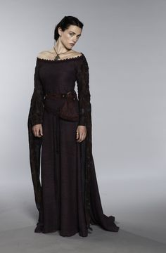 Katie McGrath as Oriane Congost in Labyrinth (TV Series, 2012) Costume Design by Charlotte Holdich and Moira Anne Meyer