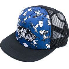 Vans Snoopy print cap (88 BRL) ❤ liked on Polyvore featuring accessories, hats, blue, pattern hats, vans hats, cap hats, blue cap and vans cap