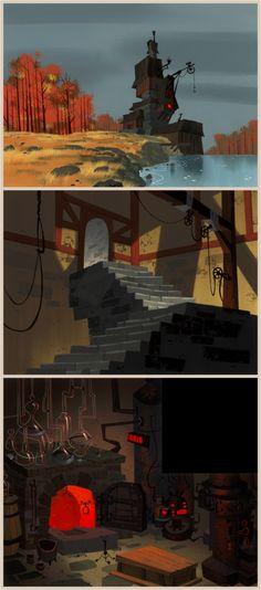 Richard Daskas - Samurai Jack background art