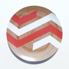 Big Chevron Melamine Plate Coral, $19, now featured on Fab.