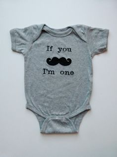 1st Birthday  Boy Mustache Baby Gray Onesie For Your Little Man Who Is One Years Old on Etsy, $18.00