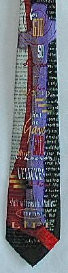 JOHN 3:16 RELIGIOUS TIE (COMES IN BLUE BACKGROUND)