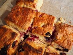 Thermomix recipe for delicious, fast berry scones.