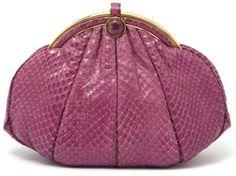 A Judith Leiber Pink Snakeskin Evening bag