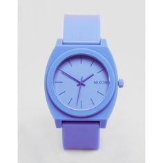 Nixon Hyper Pastel Time Teller Watch ($89) ❤ liked on Polyvore featuring jewelry, watches, blue, pastel jewelry, water resistant watches, pin jewelry, nixon jewelry and nixon wrist watch