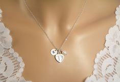 Baby Footprint Mother & Child Necklace 1 by SomethingShiny101, $38.00