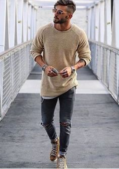 Moda casual hombre outfits shops for 2019 Fashion Mode, Trendy Fashion, Mens Fashion, Fashion Ideas, Beard Fashion, Fashion 2017, Fashion Styles, Style Fashion, Woman Fashion