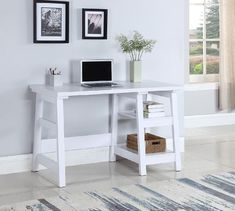 Affordable Price Acevedo Well Designed Wooden Desk By Grovelane Teen White Furniture, Home Office Furniture, Ikea Furniture, Modern Furniture, Outdoor Furniture, Furniture Projects, Rustic Furniture, Painted Furniture, White Writing Desk