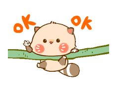 LINE Creators' Stickers - Raccoon Charlie Example with GIF Animation Mickey And Friends, Friends In Love, Ok Cartoon, Animated Emoticons, Motion Images, Disney Princess Cartoons, Cute Bear Drawings, Cute Love Gif, Cute Stories
