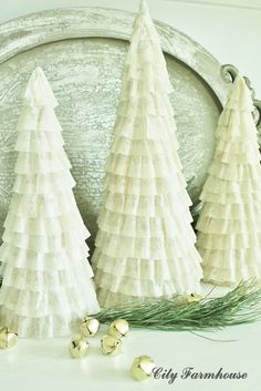 Coffee filter cone trees