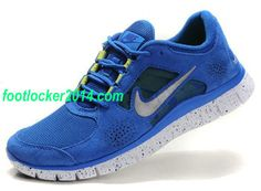 newest 05084 274af Nike Free Run 3 Mens Royalblue Silver Sneakers Cheap Nike Running Shoes, Nike  Free Shoes