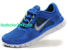 Nike Free Run 3 Mens Royalblue Silver Sneakers